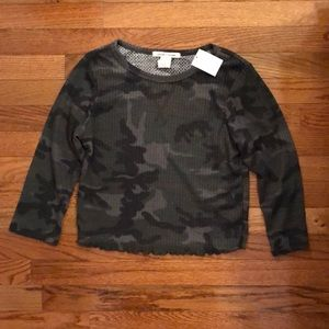NWT camouflage crop top